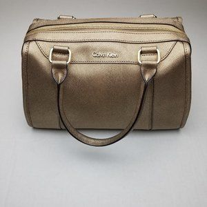 Calvin Klein Satchel Leather Handbag Purse